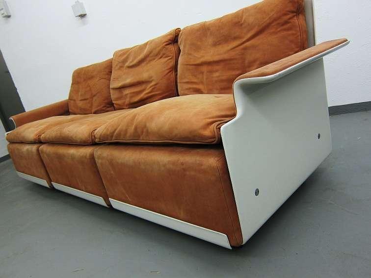 Dieter rams vitsoe dreisitzer sofa in wildleder 60er ebay for Sofa 60er gebraucht