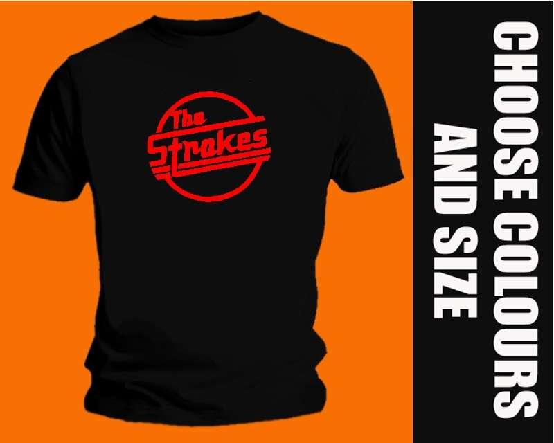 THE-STROKES-T-SHIRT-rock-rap-dance-retro-ALL-COLOURS