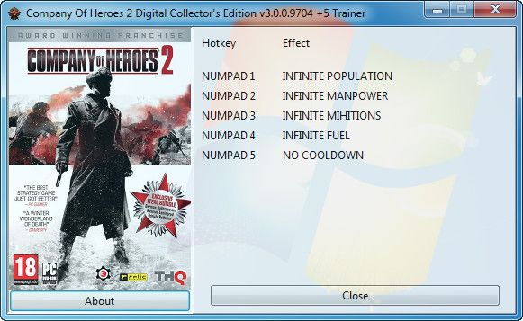 Company of Heroes 2: Digital Collector's Edition v3.0.0.9704 +5 Trainer [GRiZZLY]