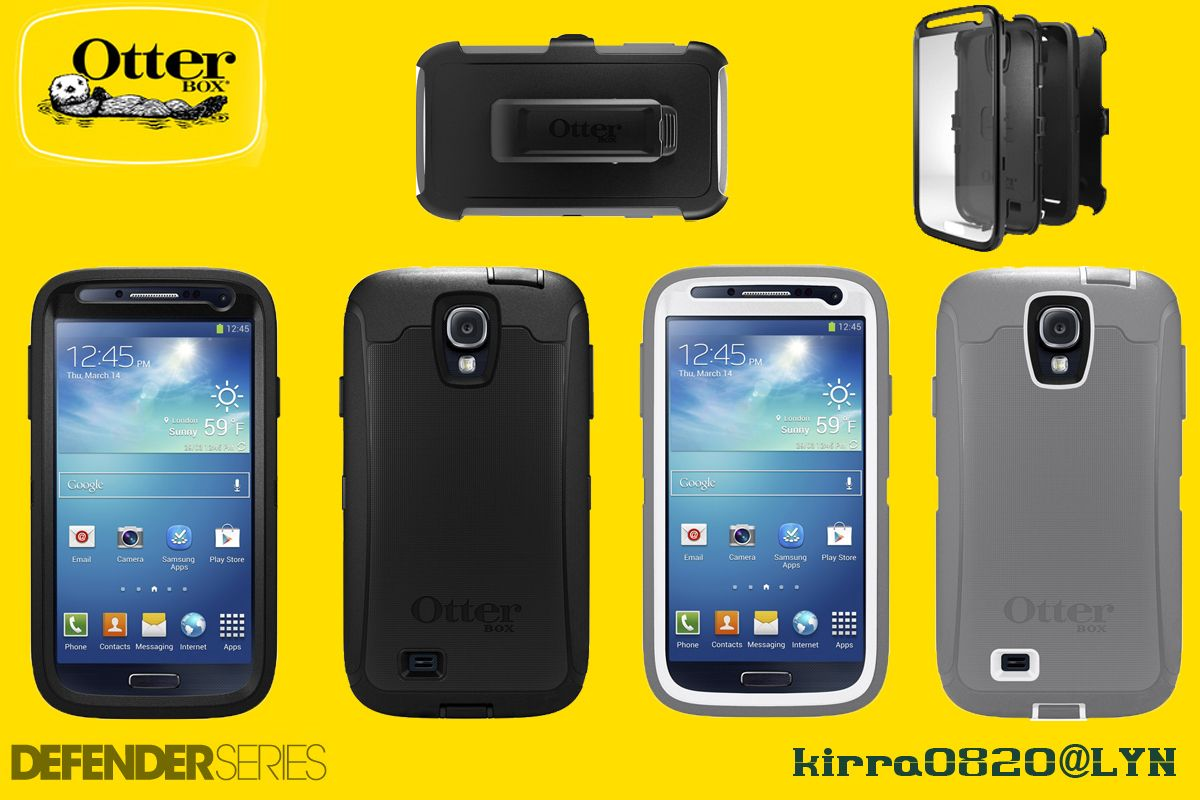 sports shoes bce13 c3ddd Otterbox Defender Samsung Galaxy S4 Glacier
